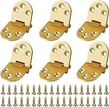 Bestzy Roestvrijstalen scharnier, 6 stuks, voor kasten, tafel, klaptafel, goud