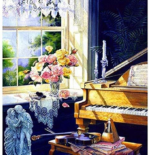 Zonovergoten Piano Voor Volwassenen En Kinderen Diy Klassiek Schilderij Modern Home Decor Festival Gift Intellectual Game Wall Art Legpuzzel-1000 Stukjes
