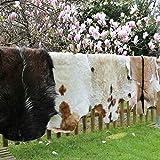 Hollert echtes Ziegenfell Naturfell Dekofell Kamindeko Wanddeko Läufer versch. Größen Größe 90-100