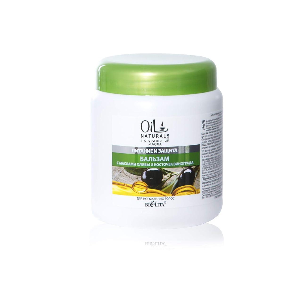 遷移判読できない蒸気Bielita & Vitex Oil Naturals Line | Nutrition & Protection Balm for Normal Hair, 450 ml | Grape Seed Oil, Silk Proteins, Olive Oil, Vitamins