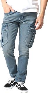 [ブルーモンスタークロージング] 作業服 作業ズボン デニム ストレッチ カーゴパンツ メンズ
