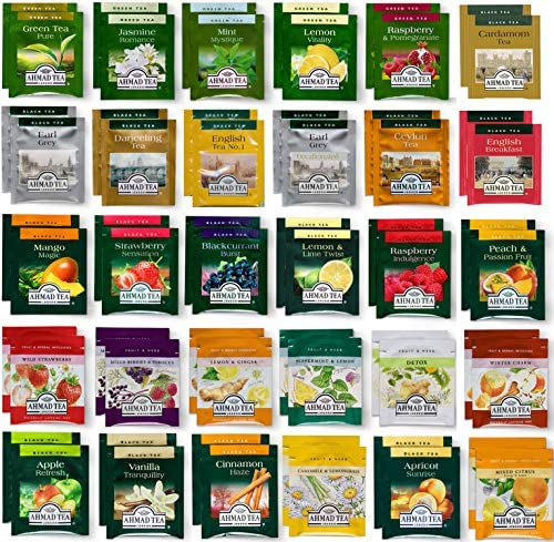 Tea Bags Sampler Assortment Box 60 Count Perfect Variety Tea pack in Gift Box Gift for Family product image