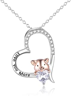 LND .925 Sterling Silver 16+2 CZ Flying Piggy Womens Necklace//Pendant