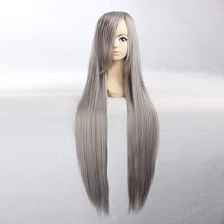 HOOLAZA Dark Gray Extra Long Straight Wig Sengoku Musou Samurai Warriors Akechi Mitsuhide Vampire Knight Kurenai Maria Vocaloid Yowane Haku Sephiroth for the Halloween Party Cosplay Wigs