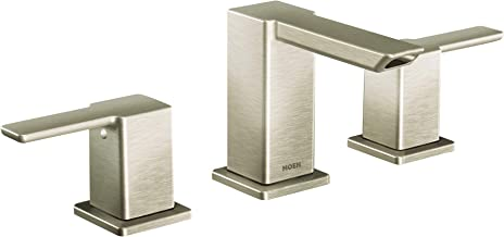 Moen TS6720BN 90 Degree Two-Handle Bathroom Faucet Trim Kit without Valve, Brushed Nickel