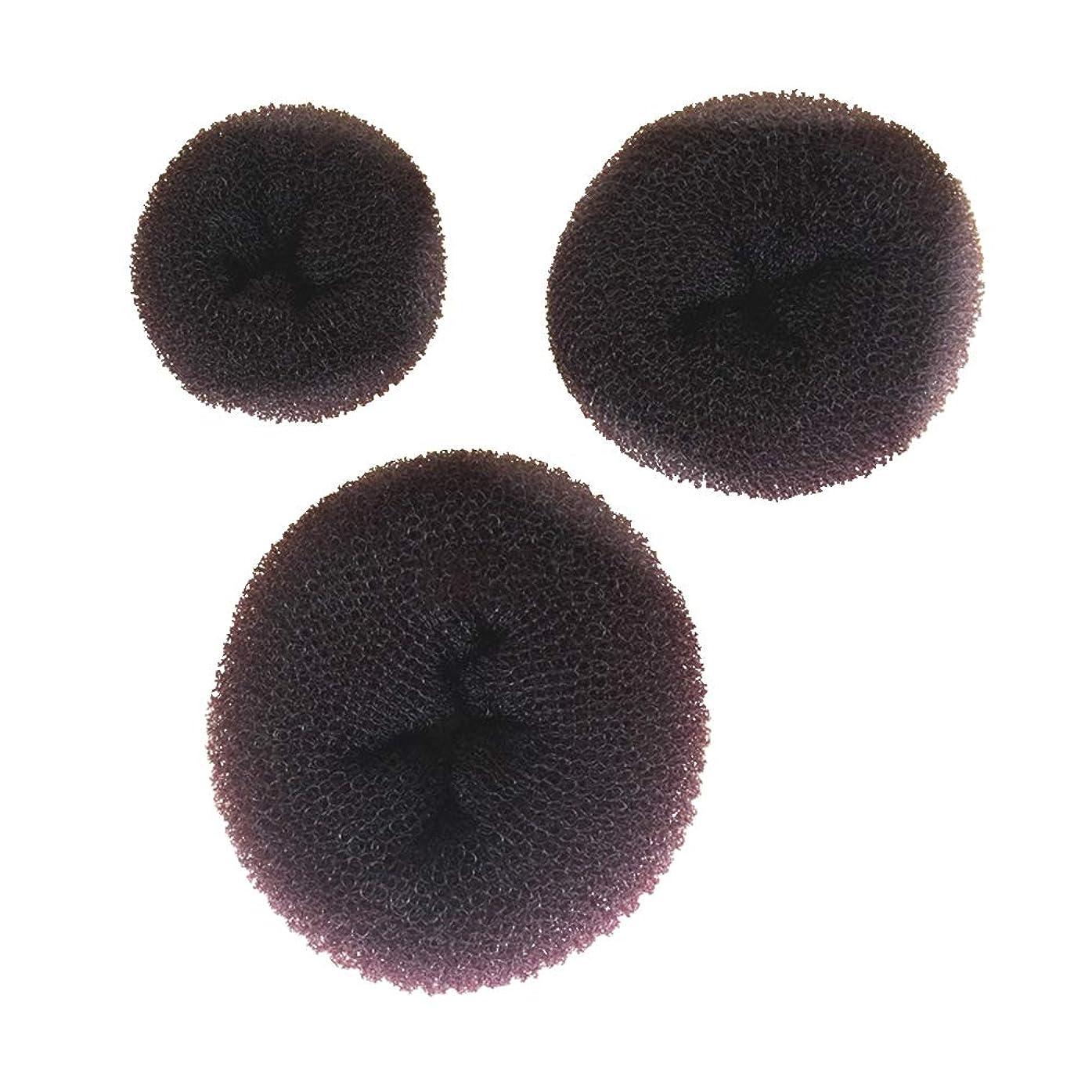 不規則性かけがえのない謙虚なLURROSE 3ピースヘアドーナツパンメーカーインスタントヘアバンメーカーキット用女の子女性