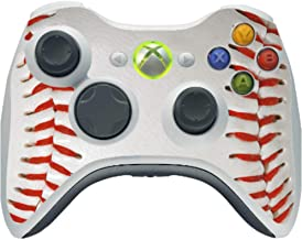Baseball Base Ball Background Red Laces Vinyl Decal Sticker Skin by Moonlight Printing for Xbox 360 Wireless Controller