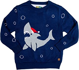 Tipsy Elves Youth Cute Shark Christmas Sweater - Baby Ugly Xmas Sweater