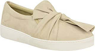 Fashion Thirsty Womens Sneakers Slip On Flat Bow Trainers Faux Suede Plimsolls Shoes