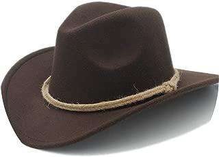 Women Men's Chapeu Western Cowboy Hat for Gentleman Cowgirl Wide Brim Jazz Church Cap