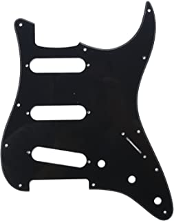 Musiclily 11 Hole SSS Strat Guitar Pickguard for Fender USA/Mexican Made Standard Stratocaster Modern Style Electric Guitar Parts,1Ply Black
