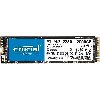 Crucial P1 CT2000P1SSD8 Disco Duro sólido Interno SSD de 2TB (3D NAND, NVMe, PCIe, M.2): Amazon.es: Informática