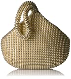 Jessica McClintock Women's Staci Mesh Wristlet Pouch, Light Gold...