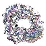 ITISME Elastici per Capelli Scrunchies Corde Morbido Fasce Accessori per Capelli Donna Eleganti Colorate Brillantini per Ragazze