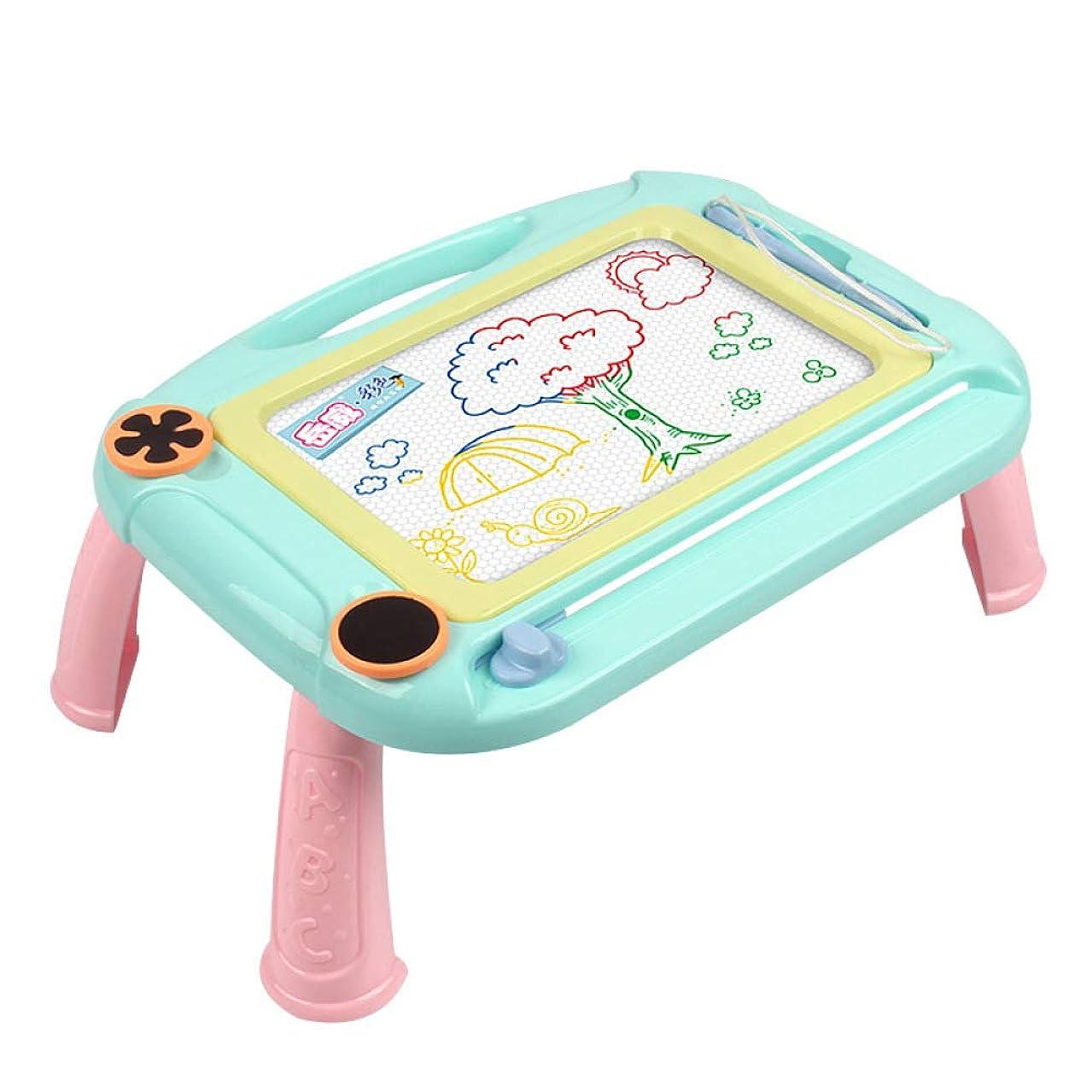 ジョージバーナード応答ロードハウス磁気製図板領域教育学習玩具落書きペイントパッド+ 2スタンプ(折りたたみブラケット),Blue