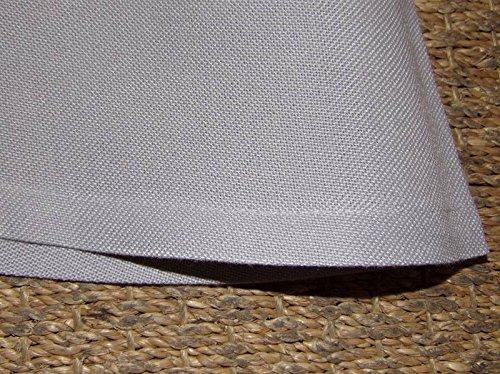 Boite-a-cadeaux - Nappe Infroissable Gris Uni Diamètre180Cm Simla