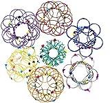 HAVAJ Juguete mágico con diseño de mandala de acero suave, arte mágico de alambre puede transformar 35 formas, autismo especiales juguete para aliviar el estrés para niños y adultos(1 Piezas)