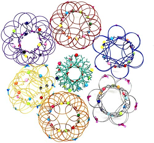 HAVAJ Juguete mágico con diseño de mandala de acero suave, arte mágico de alambre puede transformar 35 formas, autismo necesidades especiales juguete para aliviar el estrés para niños y adulto