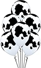 Qualatex Holstein Cow Print Biodegradable Latex Balloons 11-Inches Round (20-Units)