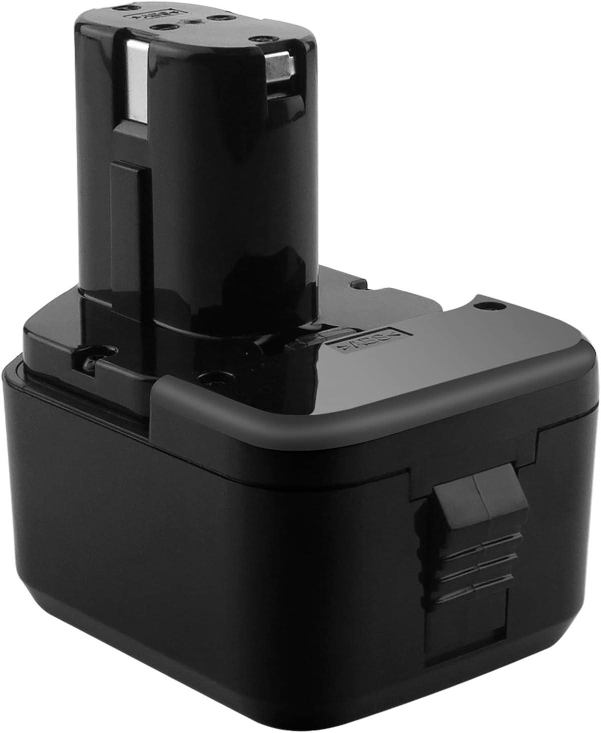 GOOALITY Batería recargable de 3.5Ah 12V Ni-MH compatible con Hitachi EB1214L EB1214S EB1220BL EB1220HL EB1220RS EB1222HL EB1226HL EB1230HL EB1230R EB1230X EB12333X para herramientas eléctricas