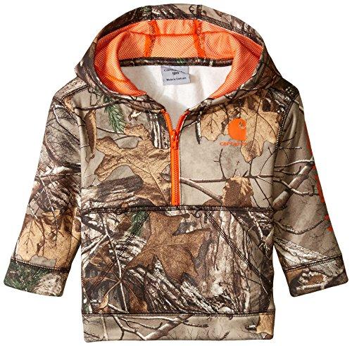 Carhartt Baby Boys' Little 1/2 Zip Sweatshirt, Realtree Xtra Camo Half, 12M