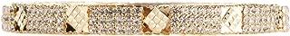 Efulgenz Fashion Jewelry Indian Bollywood 14 K Gold Plated Cubic Zirconia Bracelets Bangle Set for Women