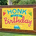 ORIENTAL CHERRY Happy Birthday Yard Sign - HONK IT'S My Birthday Quarantine Banner 71''x40'' - Large Fabric Hanging Flags Decorations for Girl Boy Kids Outdoor Indoor