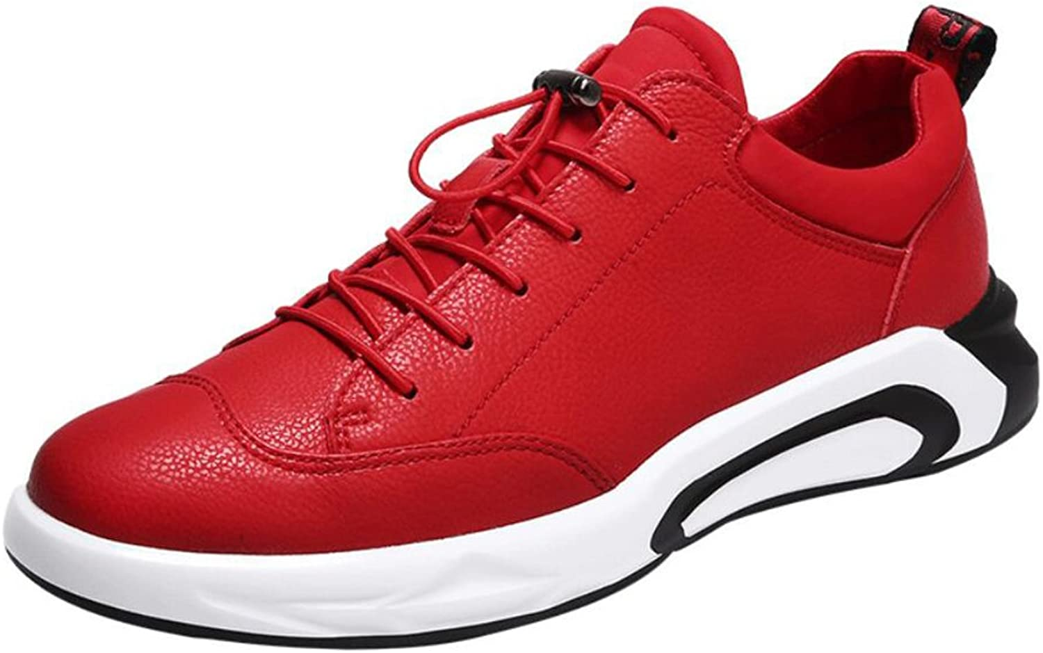 Men's Athletic shoes,Leather,Spring Fall,Comfort Low-Top Sneakers,Breathable Running shoes,Lightweight Walking shoes,Non-Slip Travel,Fitness shoes (color   B, Size   44)