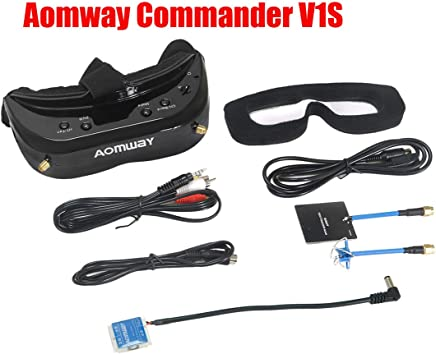 $329 Get 2019 Newest Version! Aomway Commander V1S Diversity 3D 64CH 5.8G FPV Goggles w/DVR Support HDMI (Upgrade of Commander V1)
