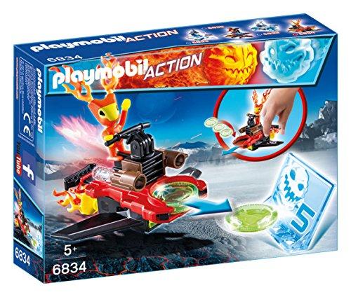 Playmobil Fire & Action- Action Sparky de Fuego con Nave Lanzadora