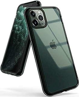 كفر ايفون 11 برو ماكس  iPhone 11 Pro Max رانجيكي فيوجن مقاوم للصدمات ويعمل مع الشحن اللاسلكي - شفاف مع اطار اسود