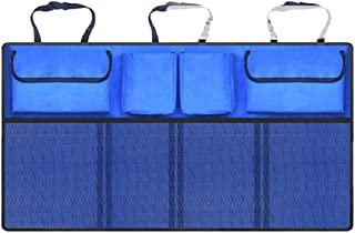 Kalaokei Kofferraum Organizer für Rücksitz, Universalgröße, mit Tasche oben, Blau