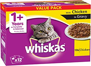 Whiskas Tender Bites Chicken in Gravy, Pouch, Multipack 85g x Pack of 12
