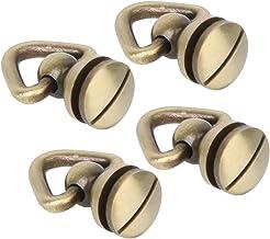Runda knappknappar hållbara alternativ färg dubb skruv nit kläder väskor för läder hantverk dekoration (brons)