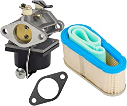 HIFROM 640065 640065A Carburetor with Gasket for Tecumseh OHV110 OHV115 OHV120 and Air Filter 36356 Pre Filter 36357