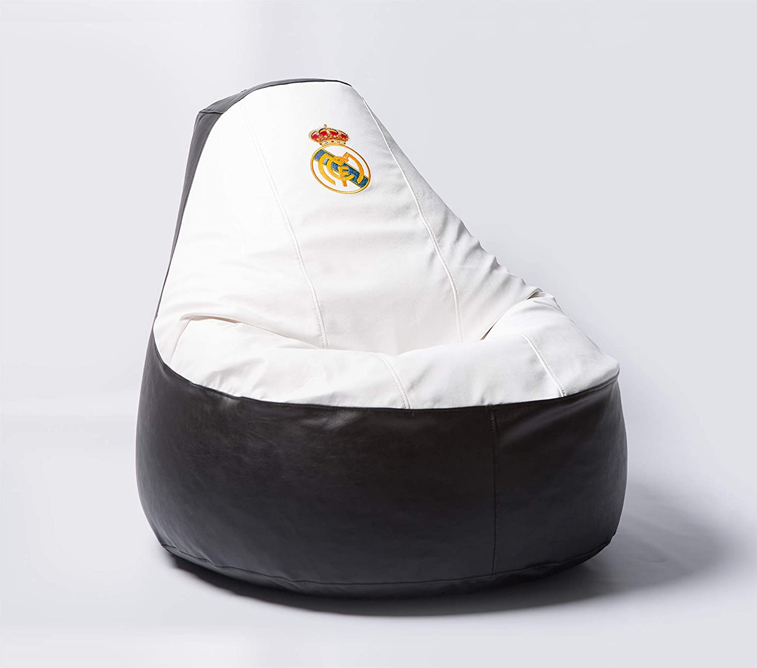 Real Madrid Football Beanbag Comfortable Kids Adult Game Outdoor Indoor Lounge Chair Cover + Inner Bag (Without Beans)
