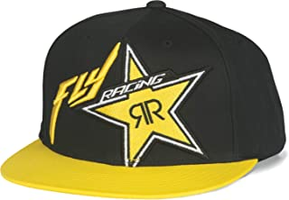 Fly Racing Unisex-Adult Rockstar Hat Black/Yellow one size