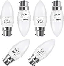 DiCUNO ProOE B22 Candle LED Bulbs, 5W, 450LM, Warm White 3000K, CRI>98, Equivalent to 40W Incandescent Bulb, C37 Bayonet L...