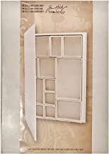 Configurations Book Shadow Box by Tim Holtz Idea-ology, 9 x 12 x 1.5 Inches, 12 Compartments, Neutral, TH93078