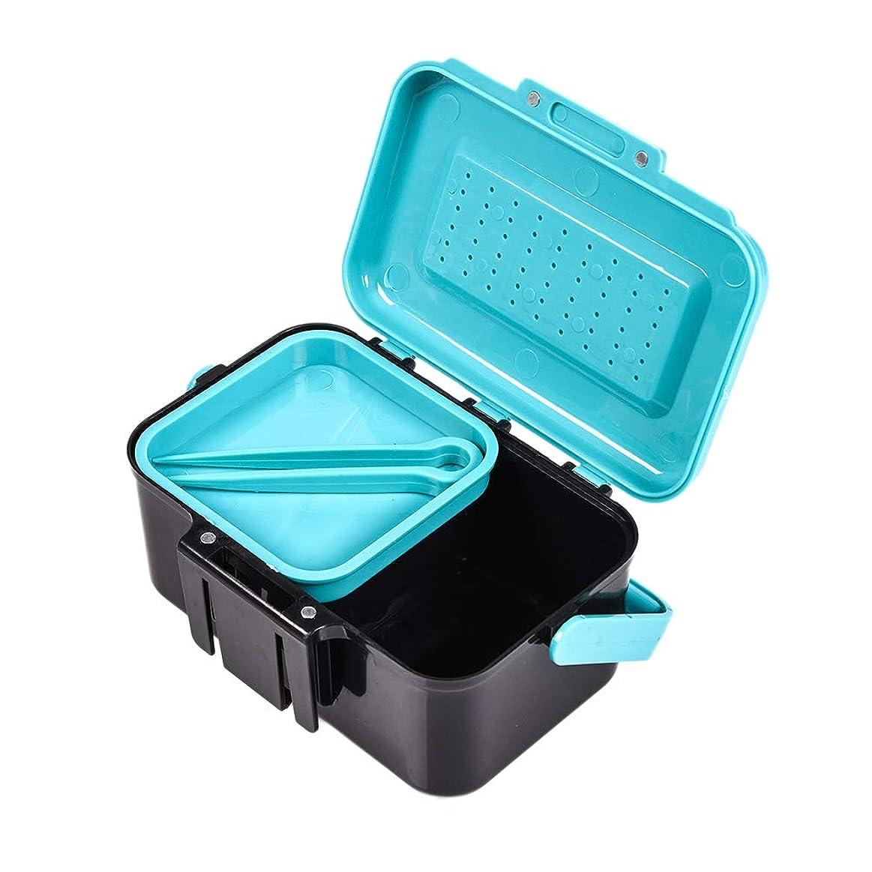 警戒トリッキー牧草地VORCOOL 釣りタックルボックス餌箱ケースツールボックス収納容器青