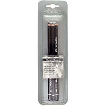 Cretacolor Charcoal Pencil 3Pk SFT Med Hard