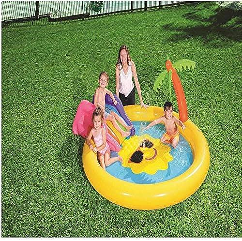 inflatable toys Sommer Neue Sonne Land Spielen Aufblasbarer Pool, Ocean Ball Pool Unterhaltung Wasser Pool Rutsche Pool Faltbare Badewanne Sand Pool, Geeignet Für Den Au bereich - 102  25cm A