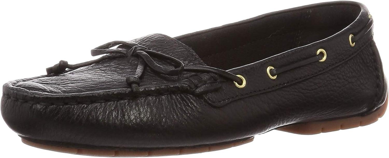 Clarks Women's C Mocc Boat Mocassins, Black (Black Leather Black Leather)