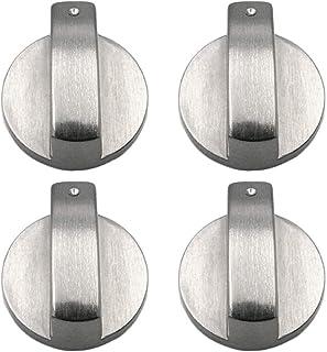 4 Piezas Metal 8mm Universal Plata Cocina de Gas Botones de Control Adaptadores Horno Interruptor Cocina Control de Superficie Cerraduras,Estufa Horno Cocina Interruptor de botón de Control (2)