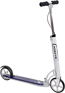 XOOTR Dash Teen/Adult Kick Scooter - 800+lb Capacity - Life Long Backing - QuickClick Latch Folding Mechanism - Front & Rear Brake