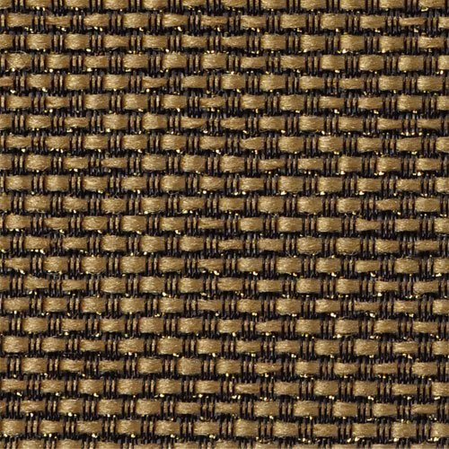 "Mojotone Black and Tan with Gold Sparkle Grill Cloth 33"" Wide"