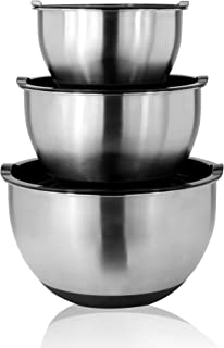 Stainless Steel Mixing Bowls - Set of 3   M&W