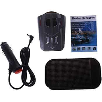 RISHENGD 2V E8 LED GPS Laser d/étecteur de Voiture Anti-Radar Meilleure d/étection de Vitesse Anti-Radar XK ka CT 12V DC