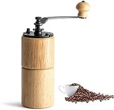 Handmatige koffiemolen, houten koffieboonfreesmachine met gietijzeren braam Verstelbare instelling Handslinger Portable Tr...