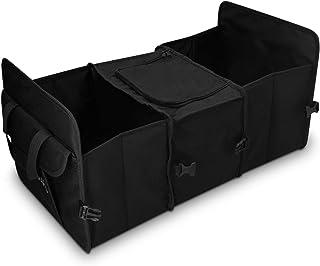 Navaris Auto Kofferraum Organizer mit Kühlfach   59 x 32 x 29cm   5 Fächer   faltbar   KFZ Rücksitz Kofferraumtasche   Kofferraumbox in Schwarz
